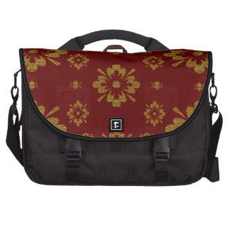 Floral Display or Gold Metalic Flowers Laptop Messenger Bag