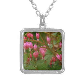 Floral Display Silver Plated Necklace