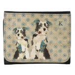 Floral Dogs Monogram Wallet
