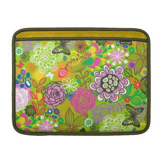 Floral Doodle Pattern MacBook Sleeve