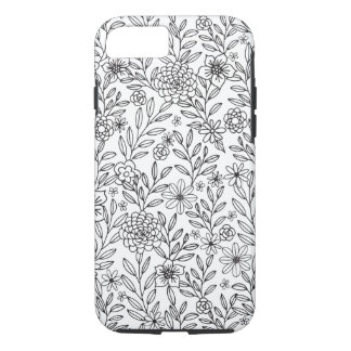 Floral Doodles Coloring iPhone 7 Case