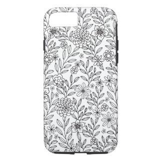 Floral Doodles Coloring iPhone 8/7 Case
