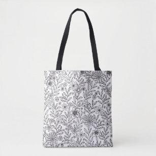 Floral Doodles Coloring Tote Bag
