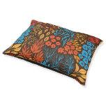 Floral doodles dark pet bed
