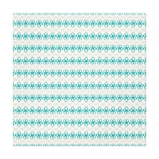 Floral Doodles in Turquoise and Gray Pattern Canvas Prints