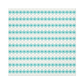 Floral Doodles in Turquoise and Gray Pattern Gallery Wrapped Canvas