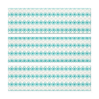 Floral Doodles in Turquoise and Gray Pattern Canvas Print