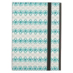 Floral Doodles in Turquoise and Gray Pattern iPad Covers