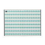 Floral Doodles in Turquoise and Gray Pattern Cases For iPad Mini