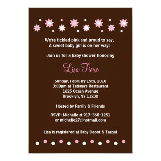 Floral Dots Custom Baby Shower Invitations