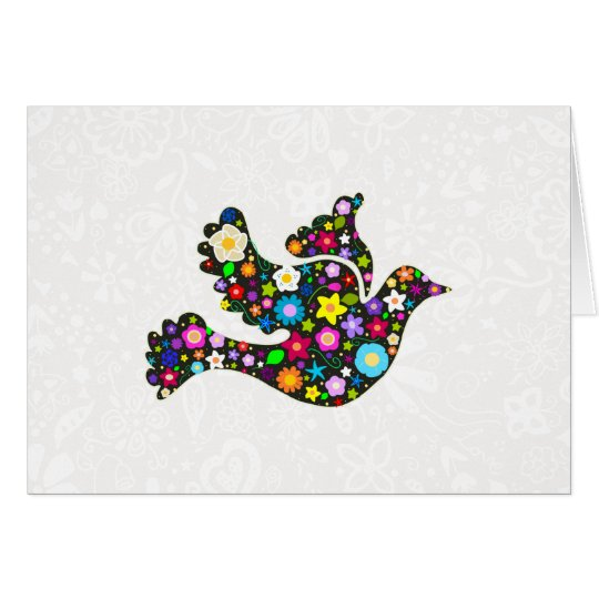 Floral Dove of flowers Card