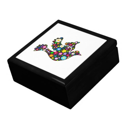 Floral Dove of flowers Keepsake Box
