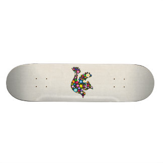 Floral Dove of flowers Skateboard