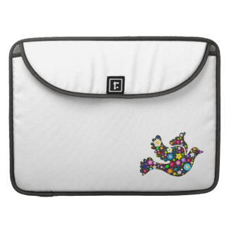 Floral Dove of flowers Sleeve For MacBooks