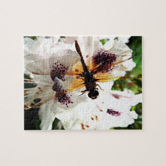 Floral Dragonfly Jigsaw Puzzle