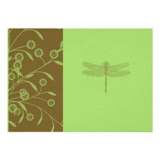 Floral Dragonfly WeddingI Invitation