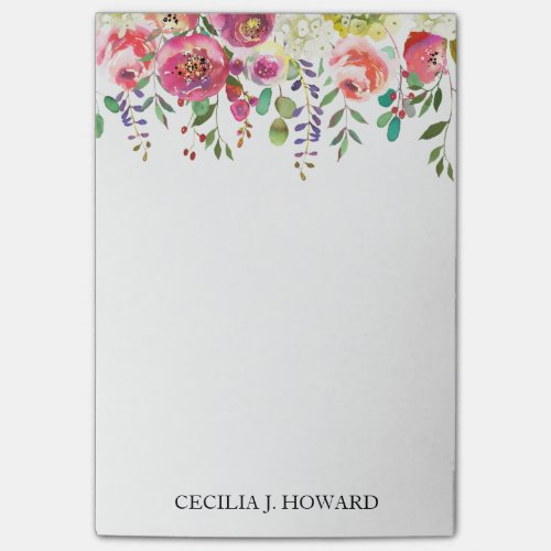 Floral Draped Wreath Post-It Notes
