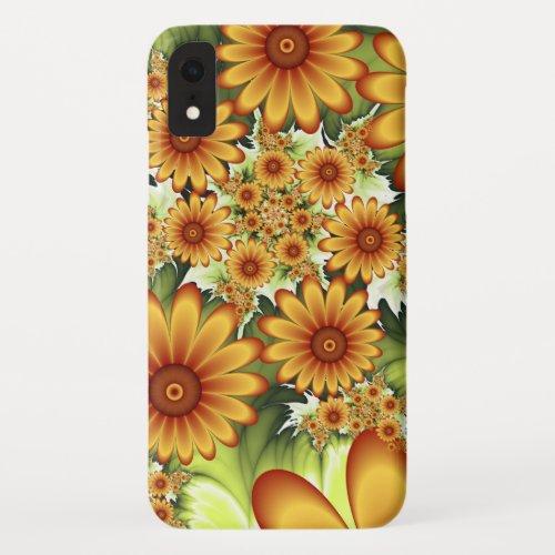 Floral Dream, Modern Abstract Flower Fractal Art Phone Case