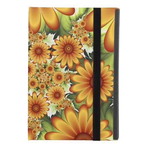 Floral Dream, Modern Abstract Flower Fractal Art iPad Mini 4 Case