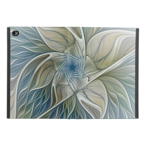 Floral Dream Pattern Abstract Blue Khaki Fractal iPad Mini 4 Case