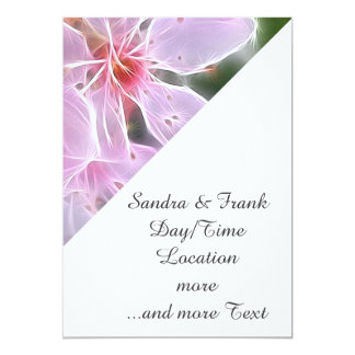 Floral Dreams 02 pink 5x7 Paper Invitation Card
