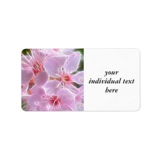 Floral Dreams 02 pink Address Label