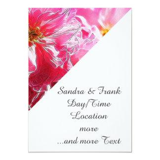Floral Dreams 03 hot pink 5x7 Paper Invitation Card