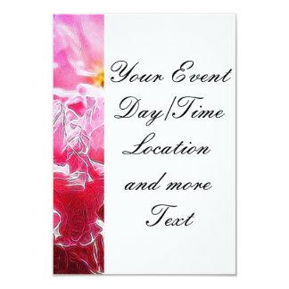 Floral Dreams 03 hot pink 3.5x5 Paper Invitation Card