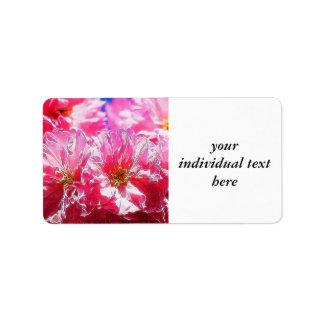 Floral Dreams 03 hot pink Address Label
