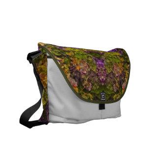 Floral Dreams in Red Tones Rickshaw Messenger Bag Messenger Bags