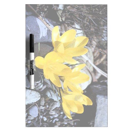 Floral Dry Erase Board
