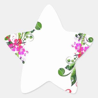 Floral - dual pattern sticker