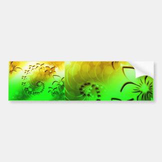 Floral- dual tone bumper sticker