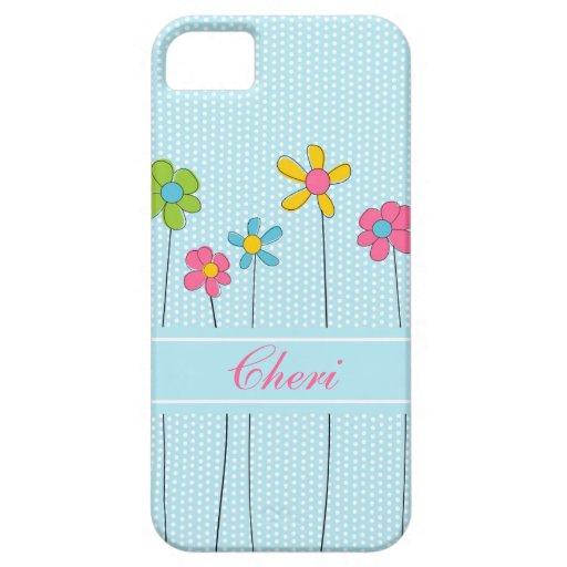 Floral dulce funda para iPhone SE/5/5s