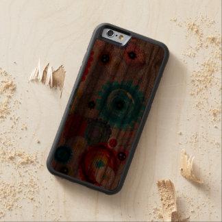 Floral e inspirando funda de iPhone 6 bumper nogal