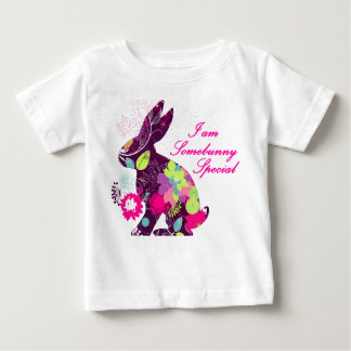 Floral Easter Bunny Rabbit Baby T-Shirt