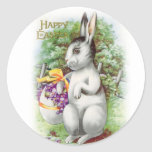 Floral Easter Bunny Stickers