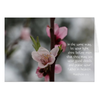 Floral Easter Card w/ Bible Verse (Matthew 5:17)
