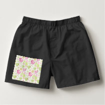 Floral Easter Chicks Boxers