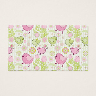 Floral Easter Chicks Business Card
