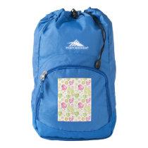 Floral Easter Chicks High Sierra Backpack