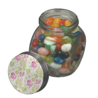 Floral Easter Chicks Jelly Belly Candy Jars