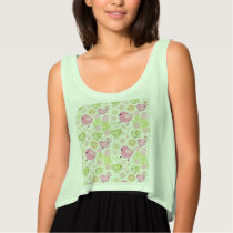 Floral Easter Chicks Tank Top