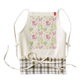 Floral Easter Chicks Zazzle HEART Apron