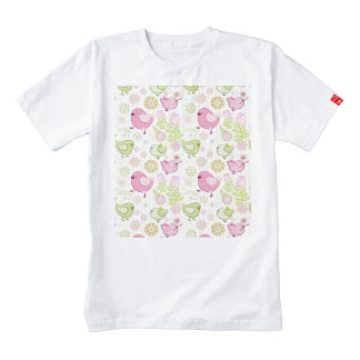 Floral Easter Chicks Zazzle HEART T-Shirt