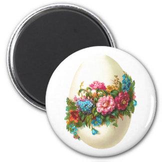 Floral Easter Egg Fridge Magnet