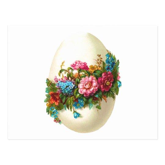 Floral Easter Egg Postcard