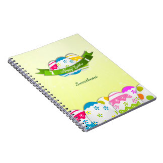 Floral Easter Eggs and Easter Wish Notebook