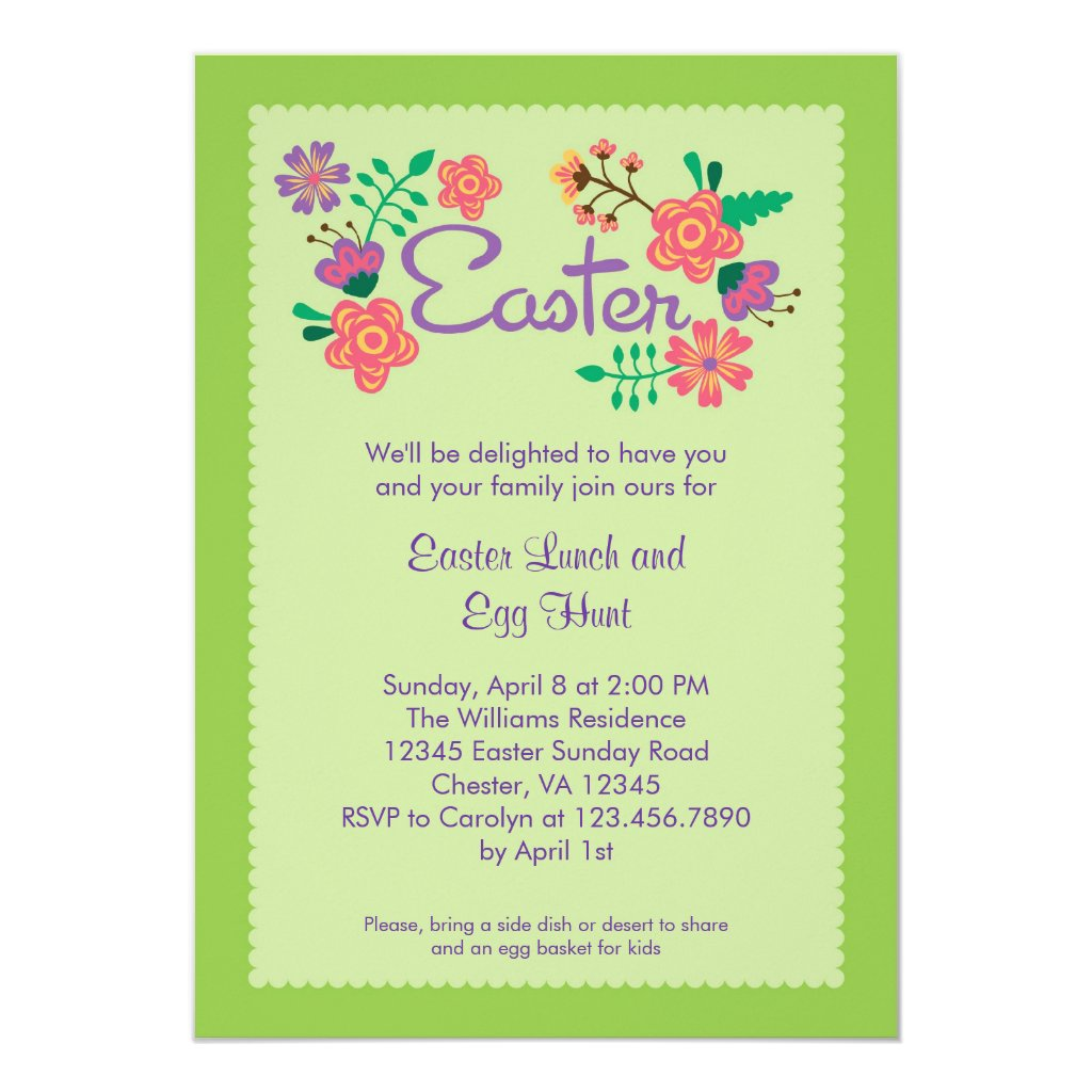 Floral Easter Invitation