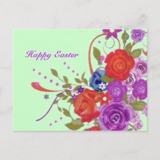 Floral Easter Postcard postcard